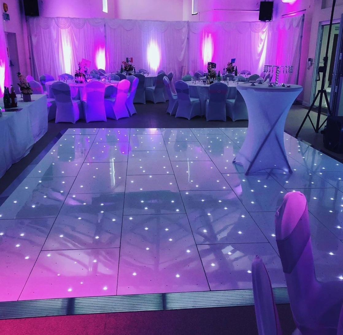 Cramer Events LED Dancefloor, Draping and Uplighters