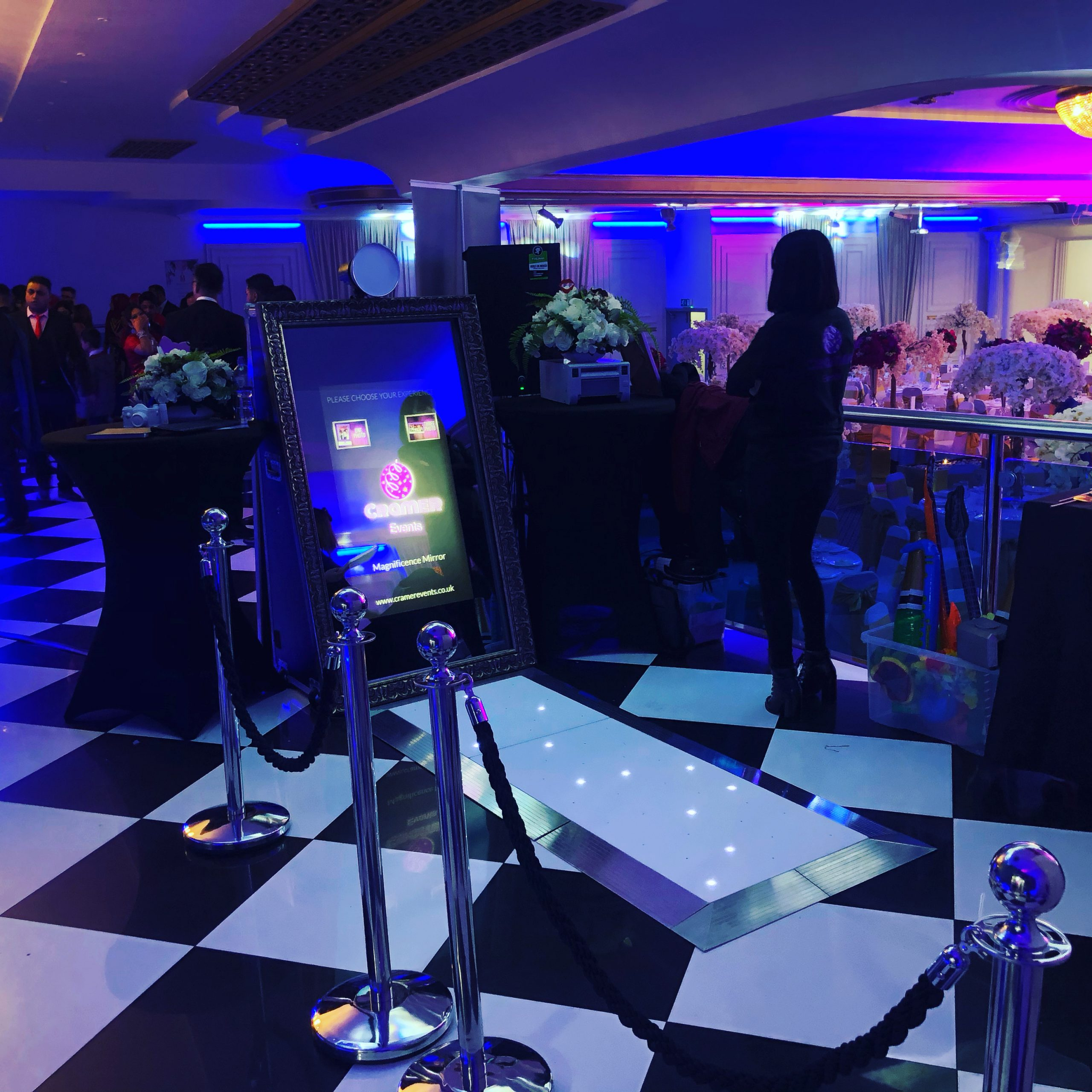 Cramer Events Magnificence Mirror and LED Dancefloor