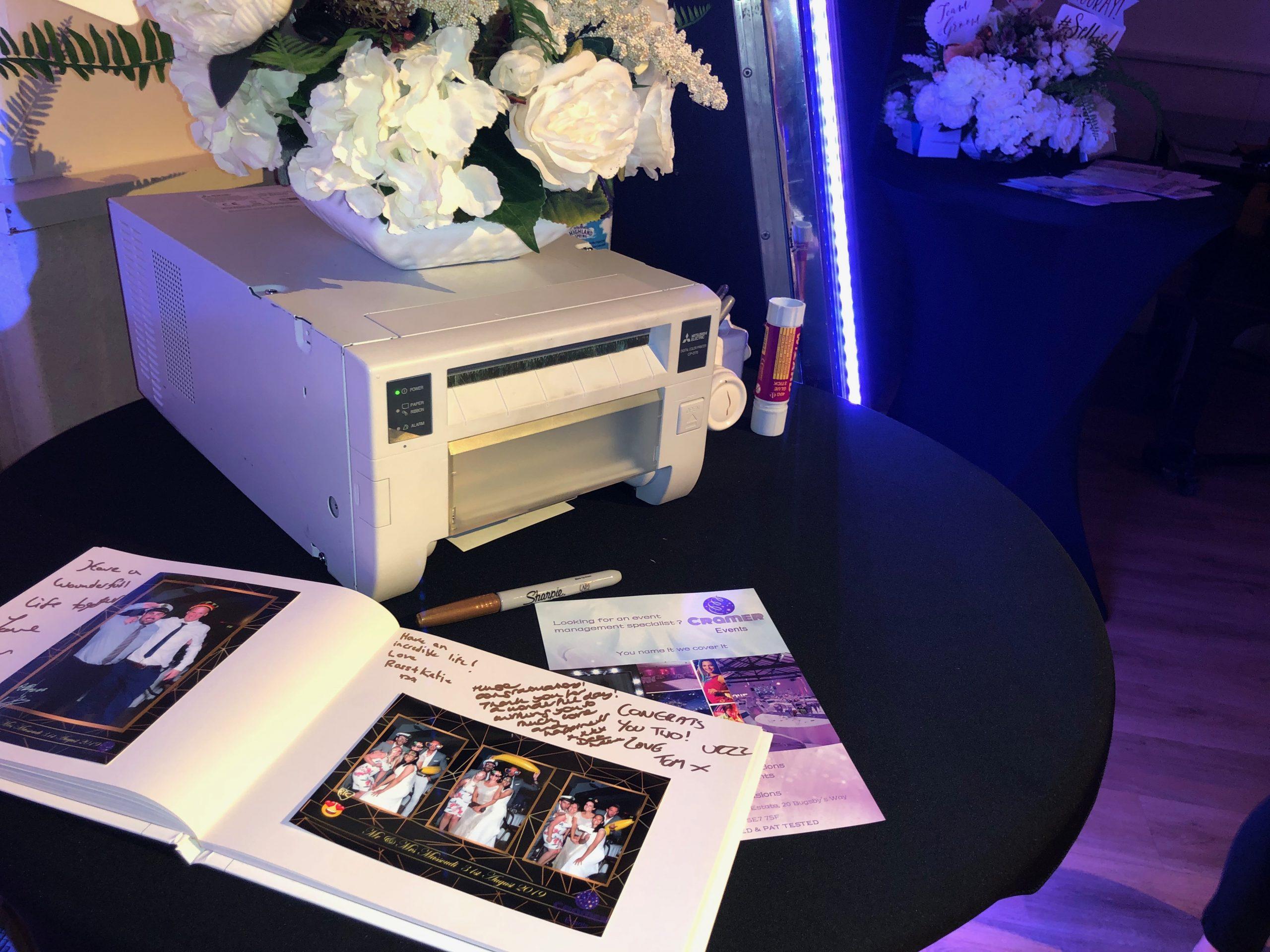 Cramer Events Magnificence Mirror Guest Book Printer